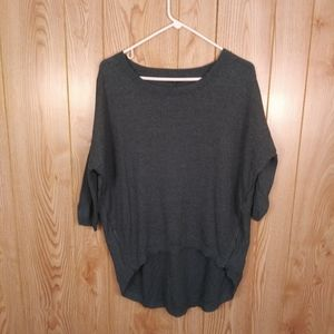 Express Green Sweater With Side Zippers